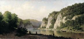 Камень Писанный на реке Чусовой