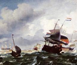 Корабли во время шторма