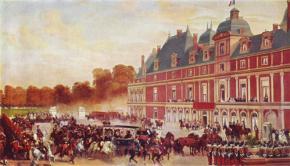 Прибытие королевы Виктории в замок Э