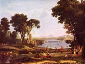 Пейзаж с обручением Исаака и Ревекки