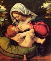 Мадонна с зеленой подушкой (Кормящая Богородица)