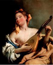 Женщина с мандолиной